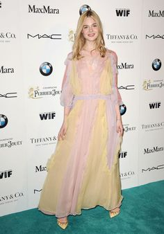 Elle Fanning at a pre-Oscar party in West Hollywood. See all of the actress's best looks.