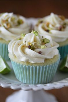 Key Lime Cupcakes #cupcakes #cupcakeideas #cupcakerecipes #food #yummy ...