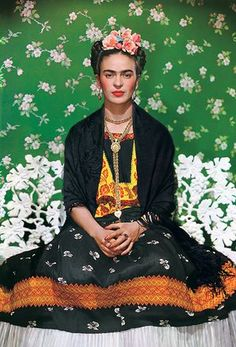 Frida on White Bench, New York 1939 - Classic images of Frida Kahlo by Nickolas Muray, her longtime friend and lover, form a new exhibition at the Museum of Latin American Art in Long Beach, California