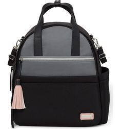 This sporty chic diaper backpack from Skip Hop provides plenty of space for all of baby's essentials.