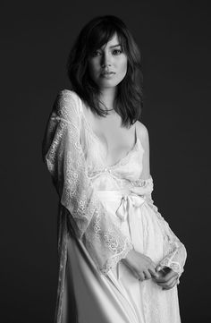 You will be his magnificent obsession wrapped in a head-to-toes ethereal lace robe sparkling with delicate crystal jewels, j'adore! #nk_imode #bridal #lingerie #nightwear