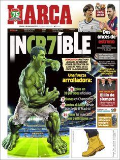 Los Titulares y Portadas de Noticias Destacadas Españolas del 1 de Marzo de 2013 del Diario Deportivo MARCA ¿Que le parecio esta Portada de este Diario Español?