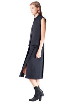 Keta Gutmane - Wrinkled sleeveless coat // AW15 // Shop at Sprmrkt Amsterdam
