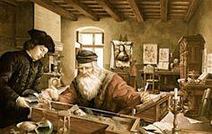 """""""Así como una jornada bien cumplida suministra un sueño tranquilo y apacible, una vida bien empleada procura una muerte dulce"""".  Leonardo da Vinci (1452-1519) Artista, científico y filósofo florentino."""