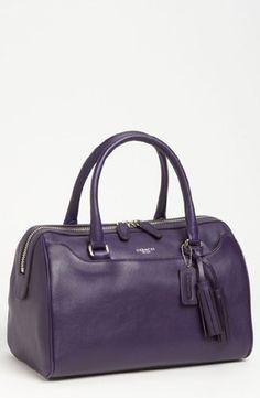 NWT Coach Legacy Leather Haley Doctors Satchel Purse 23574 Marine Purple