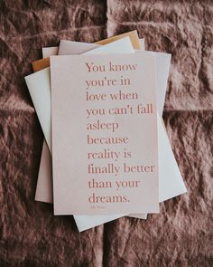 Using a quote for your wedding stationery is a great way to make your guests smile even before they get to your wedding. Wedding Stationery, Wedding Invitations, Be Yourself Quotes, Make It Yourself, Minimal Wedding, On Your Wedding Day, Happy Sunday, How To Fall Asleep, Signage