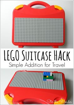 LEGO Suitcase Hack- The perfect screen-free activity for on the go kids! Hack your LEGO Suitcase to make the perfect screen-free activity for on the go kids! This LEGO Suitcase Hack is simple to do & can be temporary for travel. Lego Duplo, Lego For Kids, Diy For Kids, Legos, Kids Luggage, Travel Luggage, Luggage Sets, Travel Tray, Diy Cadeau
