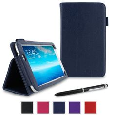rooCASE Samsung GALAXY Tab 3 7.0 SM-T210R Dual-Station Folio Case Cover - Navy (with Pen Stylus) by rooCASE, http://www.amazon.com/dp/B00CO9L84C/ref=cm_sw_r_pi_dp_o.A6rb0E9QYKJ