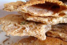Flax-rosemary Flatbreads With Smoked Sea Salt