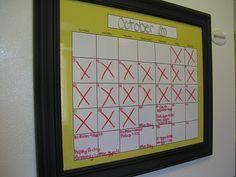 "Perpetual Calendar for your Fridge 11""x13"""