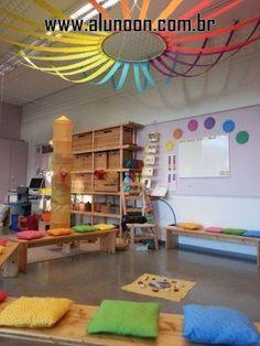 Classroom decor ideas for preschool ceiling decoration creche, kindergarten Diy Classroom Decorations, Classroom Displays, Classroom Organization, Kindergarten Classroom Decor, Classroom Decoration Ideas, Decor Ideas, Decorating Ideas, Theme Ideas, Kids Church Decor