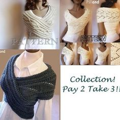 Knitting Pattern Knit Sweater cowl Vest Waistcoat pattern PDF | Etsy Knit Vest Pattern, Lace Knitting Patterns, Pdf Patterns, Knit Cowl, Cable Knit Sweaters, Scarf Knit, Sleeveless Jacket, Couture, Etsy