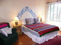 Rental in Ajijic Mexico. Enjoy a stay at The Mexican Jewel House and feel what it is like to reitre in Ajijic Mexico. View stunning Ajijic Rentals at CasaGutmanaAjijic Mexico. Mexican Style Bedrooms, Mexican Bedroom Decor, House Built, Modern Bedroom, Master Bedrooms, Interior And Exterior, Exterior Design, Home Projects, Mexico