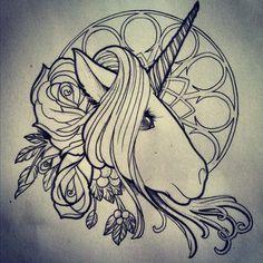 3971cc40bd26dfd2a232822361a5d051--unicorn-drawing-unicorn-tattoos.jpg (236×236)