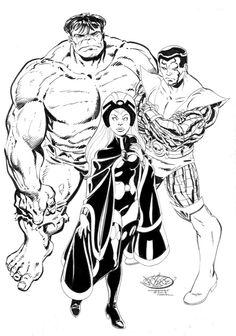 Hulk, Storm & Colossus by John Byrne. 2013