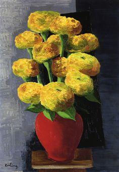 Moïse Kisling (1891-1953) - Vase of flowers, 1919