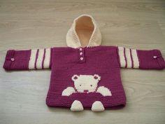 ❤️❤️❤️ Knitting For Kids, Baby Knitting Patterns, Crochet For Kids, Knitting Yarn, Crochet Bebe, Knit Crochet, Knit Baby Sweaters, Knitted Baby, Mermaid Tail Blanket