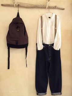 Uk Fashion, Womens Fashion, Korean Outfits, Suspenders, Swagg, Fasion, Leather Backpack, Nike Jacket, Street Wear