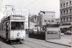 Strassenbahnlinie 3 am Hermannplatz in den 60ern