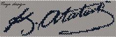 Atatürk'ün portresinden sonra imzasının da şablonu çıkarıldı. Şablon iki şekilde çıkarıldı, biri peyote tekniği ile çalışabileceğiniz şekilde, diğerini ise kasnakta dokuma yaparak çalışabilir…