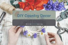 There are many different types of DIY decor you can make for your home - from wreaths, flower arrangements, art work and more to bring country style to your home! #SweetCountryStyle