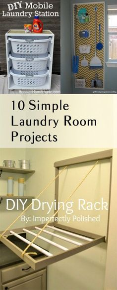 DIY Life Hacks & Crafts : 10 Great Laundry Room DIY Projects