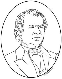 andrew johnson 17th president clip art coloring page or mini poster