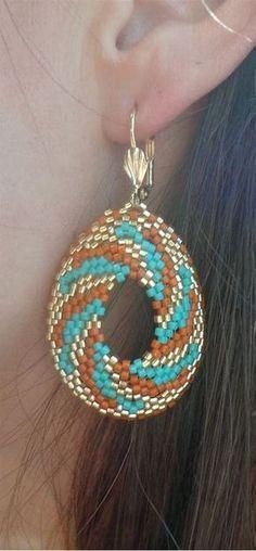 circular peyote earrings için resim sonucu