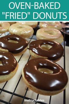 Learn how you can make oven-baked donuts that taste like theyve been fried. The post Oven-Baked Fried Donuts appeared first on Win Dessert. Biscuit Donuts, Yeast Donuts, Fried Donuts, Baked Doughnuts, Biscuits, Baked Yeast Donut Recipe, Baked Doughnut Recipes, Easy Donut Recipe, Chocolate Yeast Donut Recipe