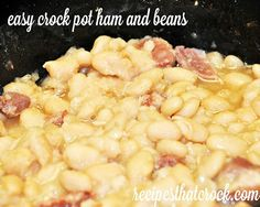 Crock Pot Ham and Beans #Crockpot