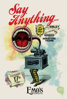 Say Anything Band 2009 Fall Tour Poster  |  by DSV   |  via:  letterheadfonts.com