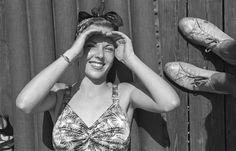 Barbara Bradford Mann sunbathing on the Steel Pier, Atlantic City (1938)