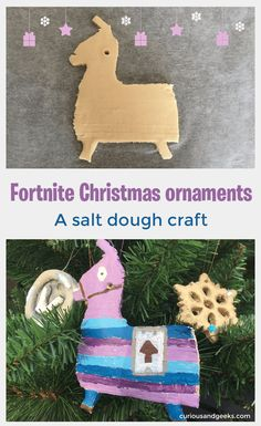 DIY Fortnite Christmas ornaments – salt dough crafts Looking for some Fortnite Christmas ideas for these holidays? Here are two salt dough crafts that will make great Fortnite Christmas ornaments. Christmas Crafts For Kids To Make, Christmas Activities For Kids, Crafts For Boys, Homemade Christmas Gifts, Craft Activities For Kids, Kids Christmas, Christmas Ornaments, Kid Crafts, Christmas 2019
