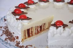 Torturi de Craciun si revelion | Retete culinare cu Laura Sava Romanian Food, Sweet Cakes, Vanilla Cake, Tiramisu, Bakery, Cheesecake, Cooking Recipes, Sweets, Ethnic Recipes