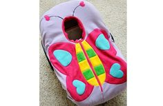 Butterfly - Adorable and Warm Infant Car Seat Cover: Madeline and Company