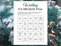 Bridal Shower Ice Breaker Game Forest Green Wedding Human Bingo Cards Printable Get to Know You Ice Breaker Bingo, Human Bingo, Wedding Party Games, Wedding Ideas, Game Development Company, Two Player Games, Green Theme, Game Start, Ice Breakers