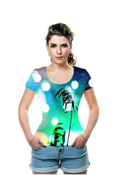 Blue Grass Sparkle By Christina Shaskus. All Over Printed Art Fashion T-Shirt by OArtTee