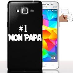 Coque de Samsung Galaxy Grand Prime Papa | Housse Silicone. #GrandPrime #Dad #Papa #Coque #Silicone