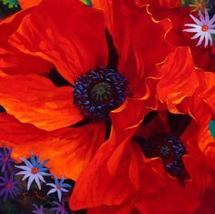 Simon Bull Art - Welcome to the Official Website of Artist Simon Bull Art Floral, Watercolor Flowers, Watercolor Art, Poppies Painting, Red Poppies, Painting & Drawing, Flower Art, Art Projects, Illustration
