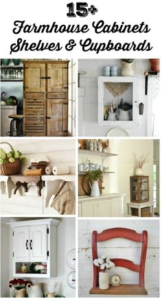 DIY Farmhouse Cabinets Farmhouse Shelves Farmhouse Cupboards - KnickofTime.net