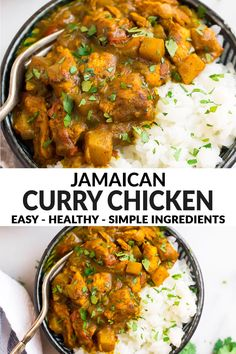 Chicken Breast Curry, Chicken And Potato Curry, Chicken Breasts, Chicken Thighs Curry Recipe, Jerk Chicken, Rotisserie Chicken, Jamaican Dishes, Jamaican Recipes, Curry 3