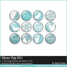 Winter Flair No. 01 - Digital Scrapbooking Elements DesignerDigitals