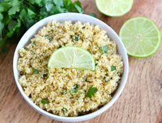 Cilantro Lime Quinoa Recipe, healthy side dish!