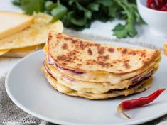 Quesadillas - Recette rapide et facile | La Cuisine d'Adeline Mexican Menu, Adeline, Quesadillas, Junk Food, Entrees, Sandwiches, Ethnic Recipes, Pains, Foods