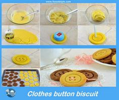 Creative clothes button biscuit idea - Foood Style