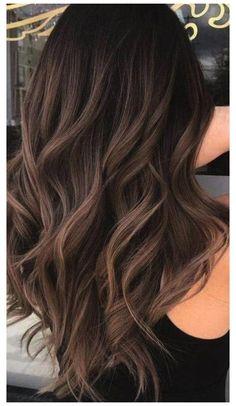 Highlights For Dark Brown Hair, Brown Hair Balayage, Hair Color Balayage, Hair Color For Black Hair, Color Highlights, Brown Hair For Light Skin, Dark Hair Style, Black Hair With Ombre, Hair Colors For Brown Skin