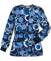 UA Circle Games Navy Print Scrub Jacket $12.99
