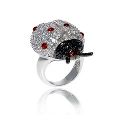noir jewelry | nOir Jewelry - Lady the Ladybug Ring | Sparkles