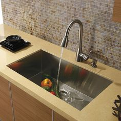 VIGO Undermount Stainless Steel Kitchen Sink, Faucet and DispenserIf sophistication and style fits your taste, then show it with a VIGO kitchen sink, faucet and soap dispenser. Sink is manufactured with 16 gauge premium 304 Series stainless steel construction
