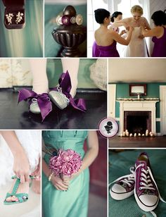 you are getting purple converse, or the guys wear purple teal converse (depending how casual you want the reception) either way you are getting those.